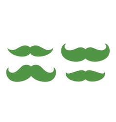 Green moustache saint patricks vector