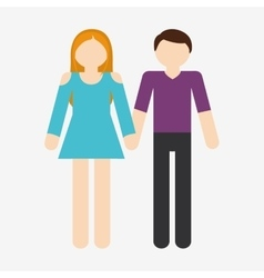 Heterosexual couple icon image vector