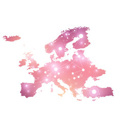 Europe map geometric graphic background vector