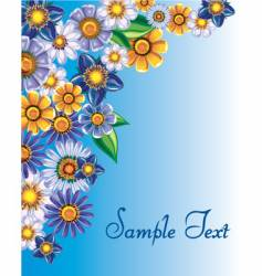 Floral background template vector