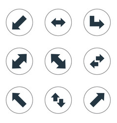 Set of simple indicator icons vector