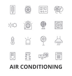 air conditioning hvac coolling heating vector image
