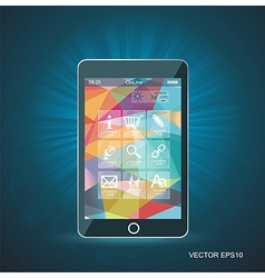Perfectly detailed modern smart phone with vector
