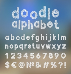 Decorative doodle alphabet vector