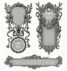 Vintage engraved frames vector