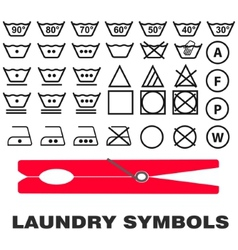 Wash care symbols vector