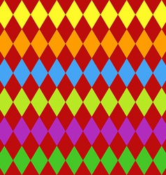 Seamless harlequin pattern-multicolor vector