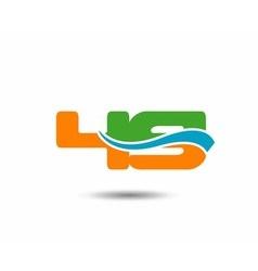 49 anniversary wave logo blue vector