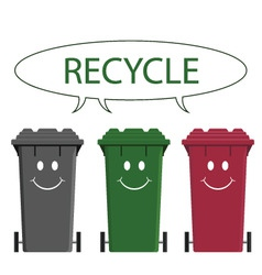 Happy recycle message vector