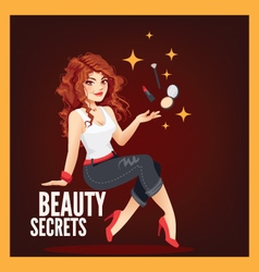 Beauty secrets vector