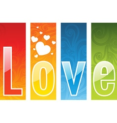 A colorful love abstract background vector