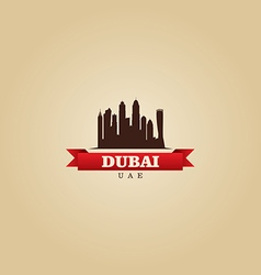 Dubai UAE city symbol silhouette vector image