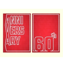 Anniversary outline set vector