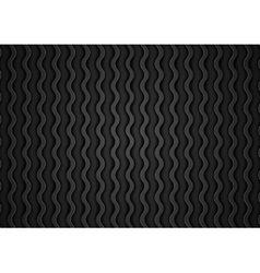 Abstract black waves pattern vector