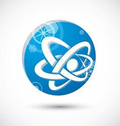 Atom symbol abstract icon 3d symbol vector image