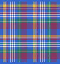 blue check plaid tartan seamless fabric texture vector image