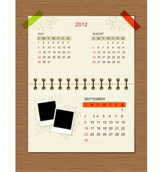 calendar2012 september vector image vector image
