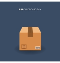 Carton cardboard box Delivery and packaging vector image