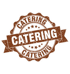 Catering stamp sign seal vector