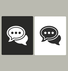 Chatting - icon vector