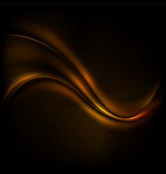 Chocolate wave abstract dark background vector image