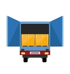 Container truck icon vector image vector image