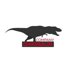 Dinosaur logo concept diplodocus jurassic period vector