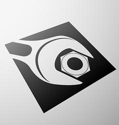 Emblem of construction vector