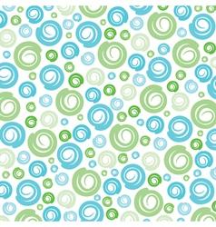 Green-blue swirl pattern background vector