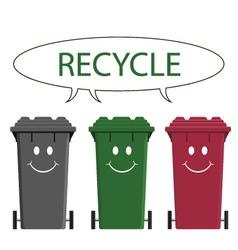 happy recycle message vector image vector image