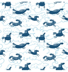 horses seamless pattern vector image