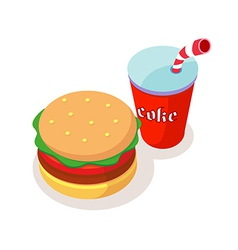 Icon fastfood vector