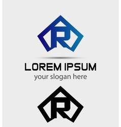 Letter R logo icon design template vector image