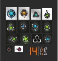 Mega collection of power buttons - icons vector image vector image