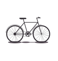 object transport bike silhouette vector image