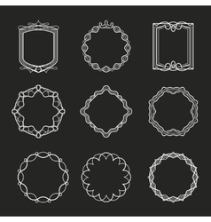Outline frames vector image vector image