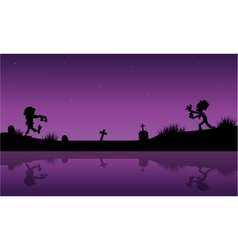 Purple backgrounds halloween zombie vector