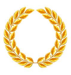 realistic gold laurel wreath for vector image vector image