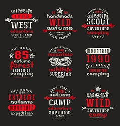 Set of typographic compositions for t shirt vector image vector image