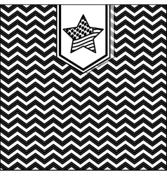 silhouette pattern with zig zag texture vector image