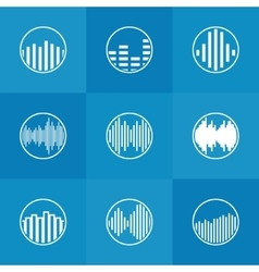 Soundwave icon or logo vector