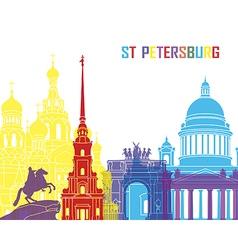 St Petersburg skyline pop vector image