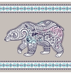 Tribal hand drawn totem bear vector