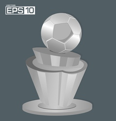 Trophy Football Background vector image