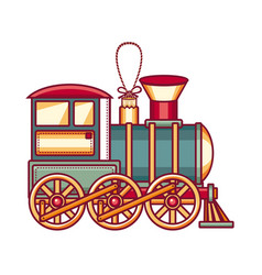 vintage train icon vector image