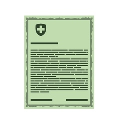 History document medical health care icon vector