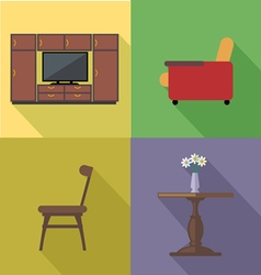 Home decoration icon set flat style digital image vector