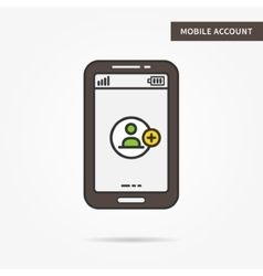 Mobile account vector