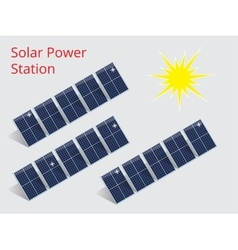 Isometric of a solar power station vector image