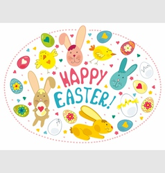 Easter card with graphical elements vector